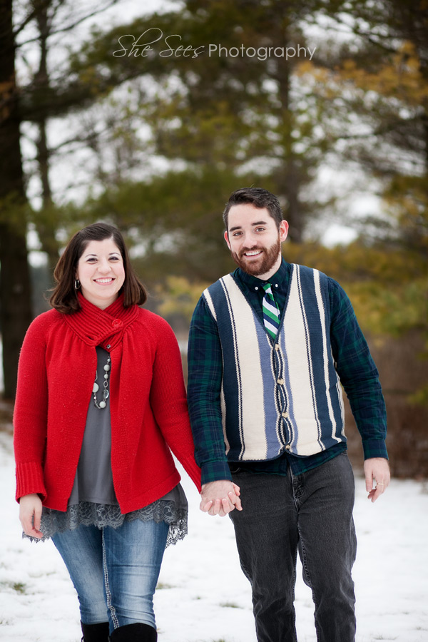 St Charles winter engagement photos at Leroy Oaks!