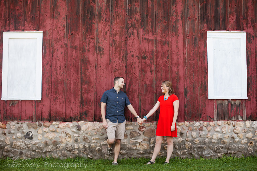 Such a cute couple for an engagement session at Leroy Oaks Forest Preserve in St. Charles, IL!